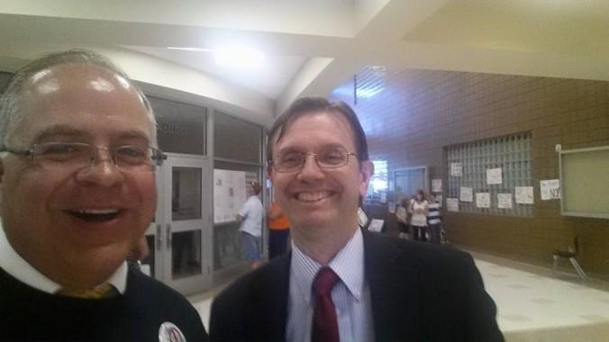 Representative Lifferth and Representative Cox at Prison Meting Frontier Middle School